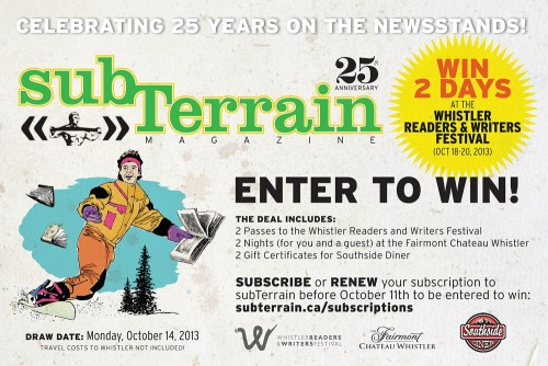 Subscribe and enter to win Whistler Prize Pack