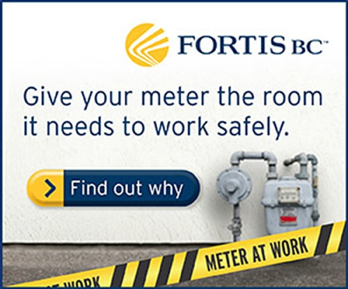 "Digital ad for the ""Meter at Work"" campaign for FortisBC"